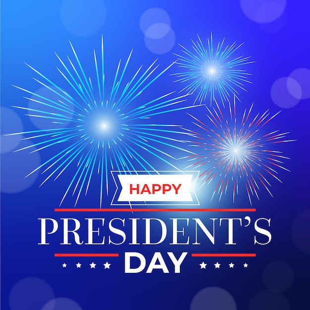 Fireworks presidents day Free Vector