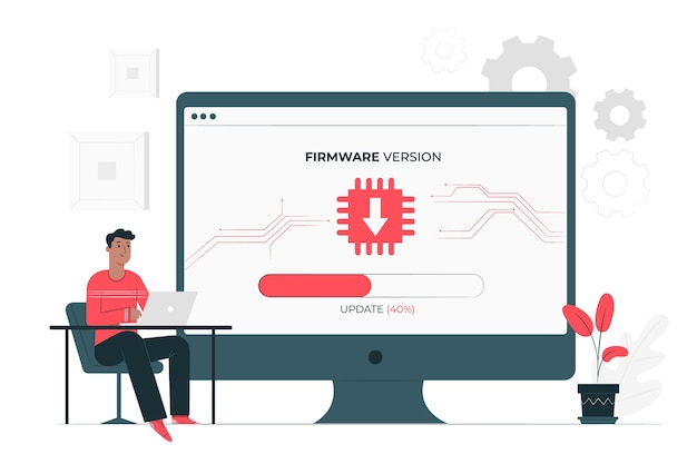 Firmware illustration concept Free Vector