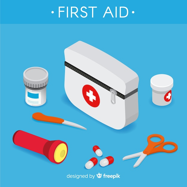 First aid background Vector   Free Download