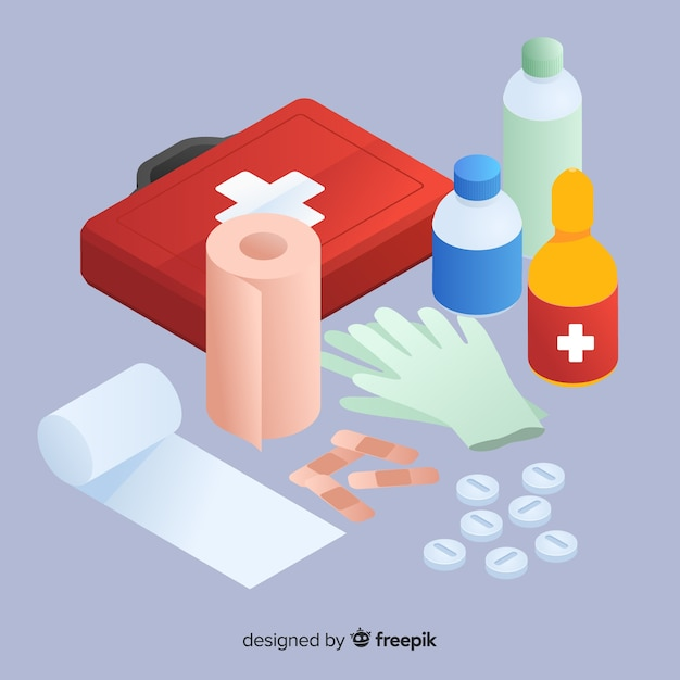 First aid background Free Vector