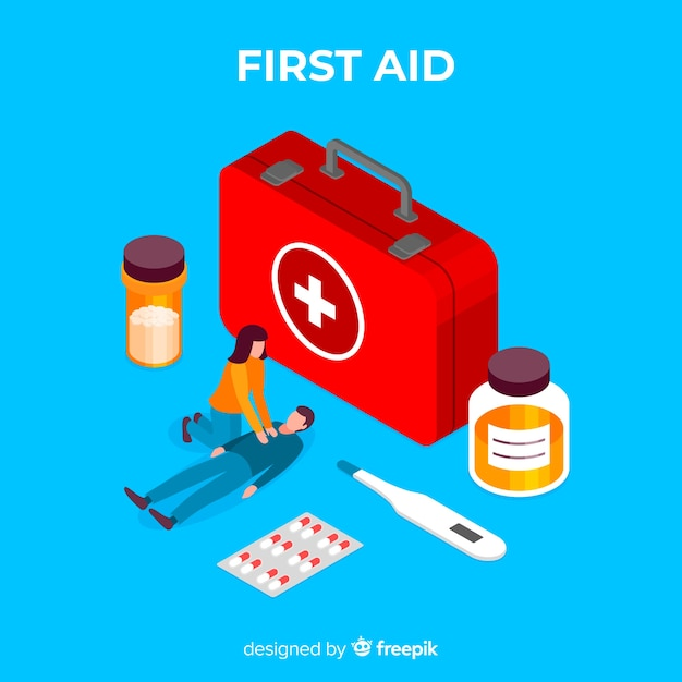 First aid background Vector | Free Download