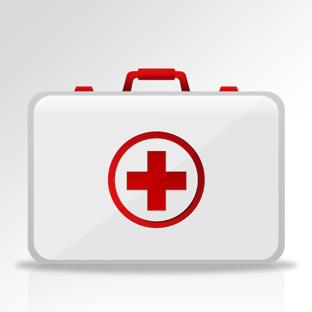 First aid kit design Free Vector
