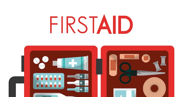 First aid kit medical health Vector   Premium Download