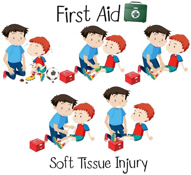 First aid soft tissue injury Vector   Premium Download