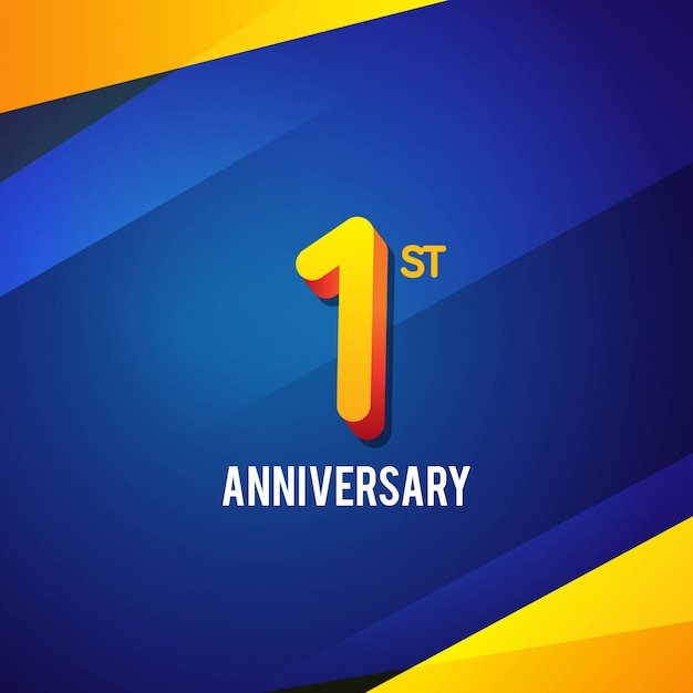 premium vector first anniversary background https www freepik com profile preagreement getstarted 2122043