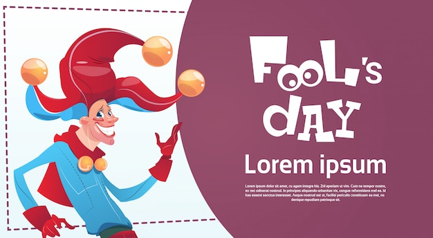 First april fool day happy holiday greeting card Premium Vector