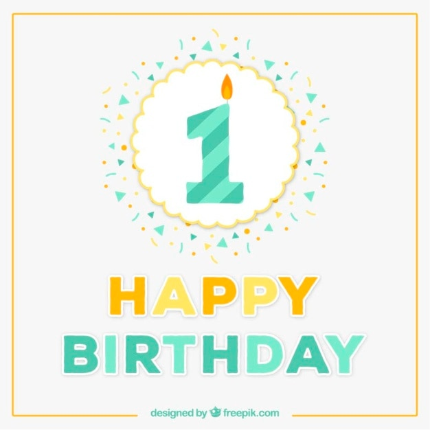 First birthday card Vector – Free 1st Birthday Cards
