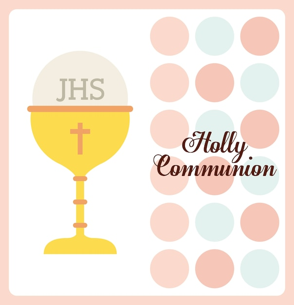 First communion design, vector illustration eps10 graphic Premium Vector