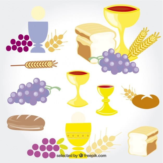 First communion elements Free Vector