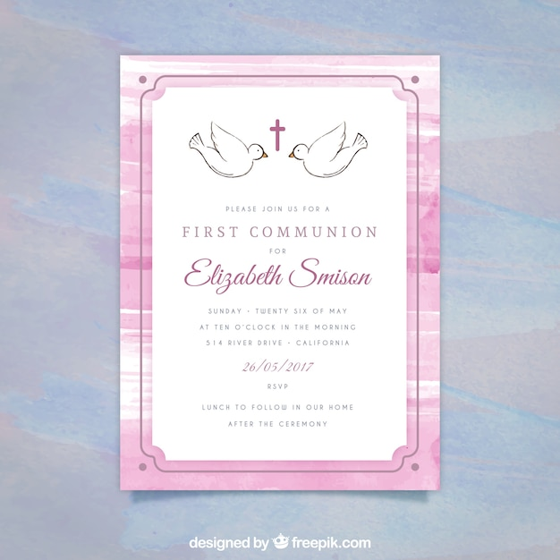 First communion invitation vector free download first communion invitation free vector stopboris Image collections