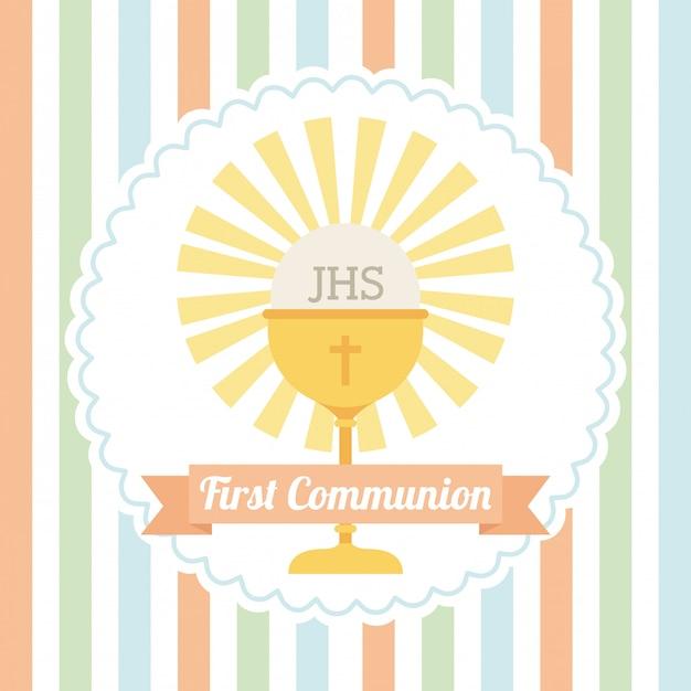 First communion Premium Vector