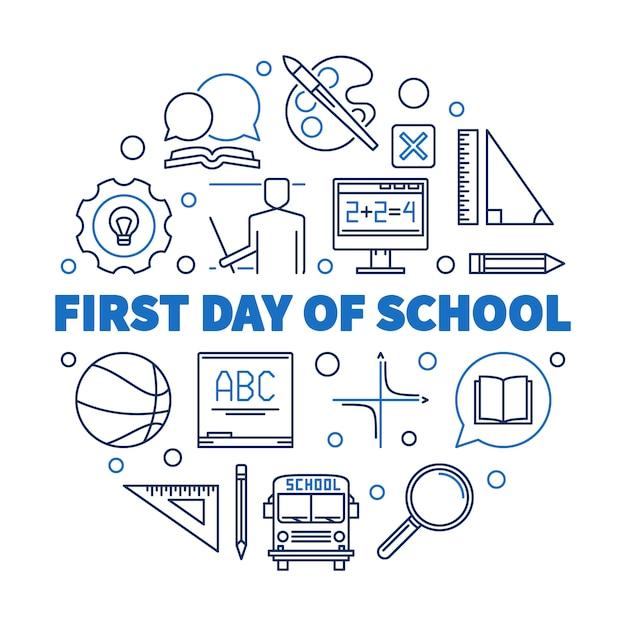 First day of school Premium Vector