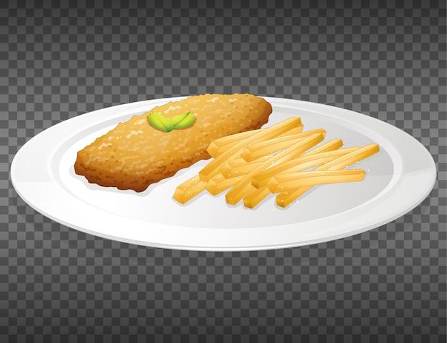 Pesce e patatine Vettore gratuito