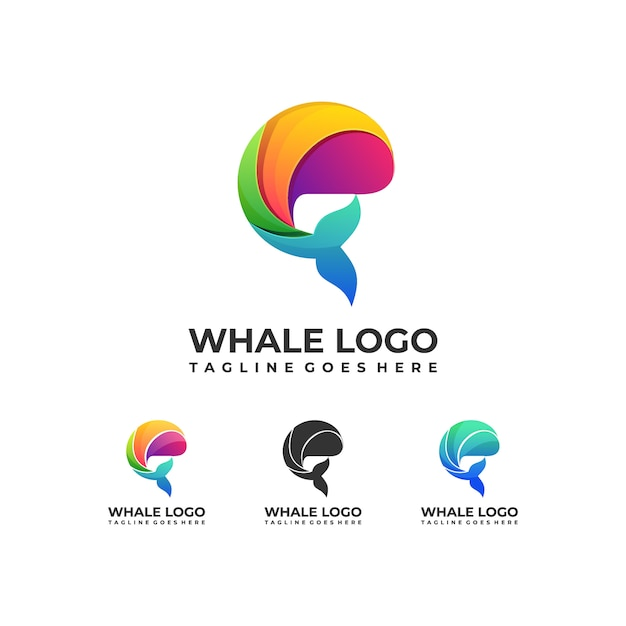 Fish colorful design logo Premium Vector