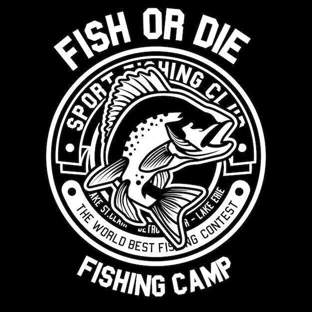 Fish or die Premium Vector