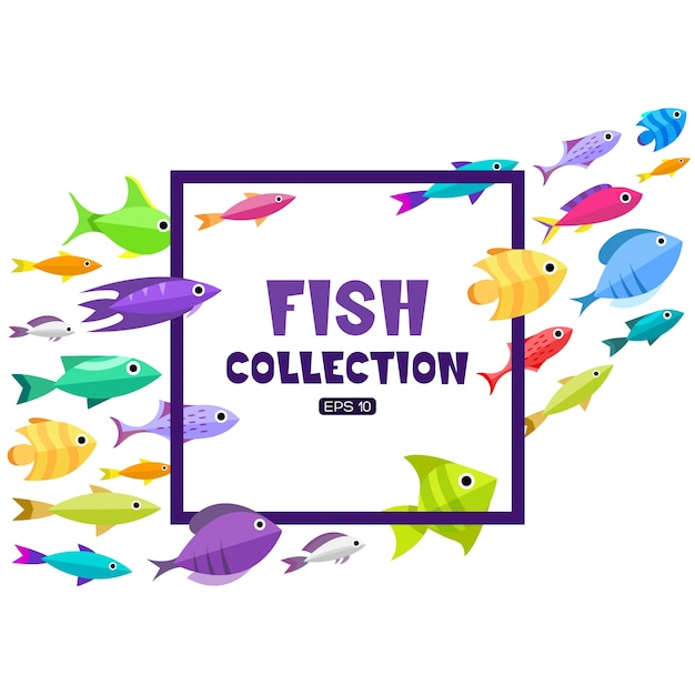 Fish frame background Vector | Premium Download