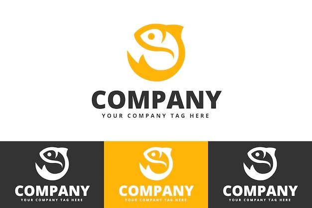 Fish logo design isolated on white background Premium Vector
