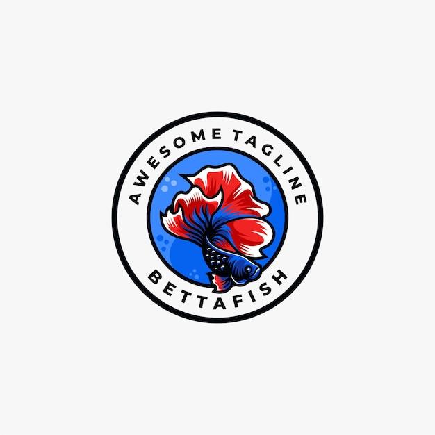 魚のロゴのデザインテンプレートベクトル Premiumベクター