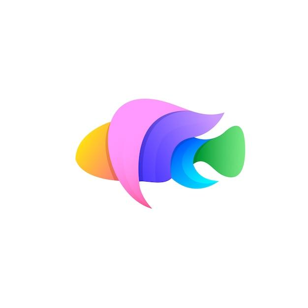 Fish logo design Premium Vector