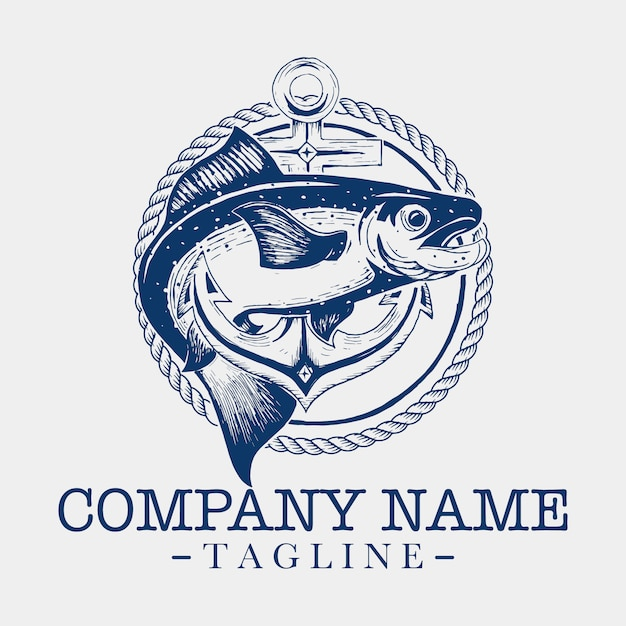 Fish logo template Free Vector