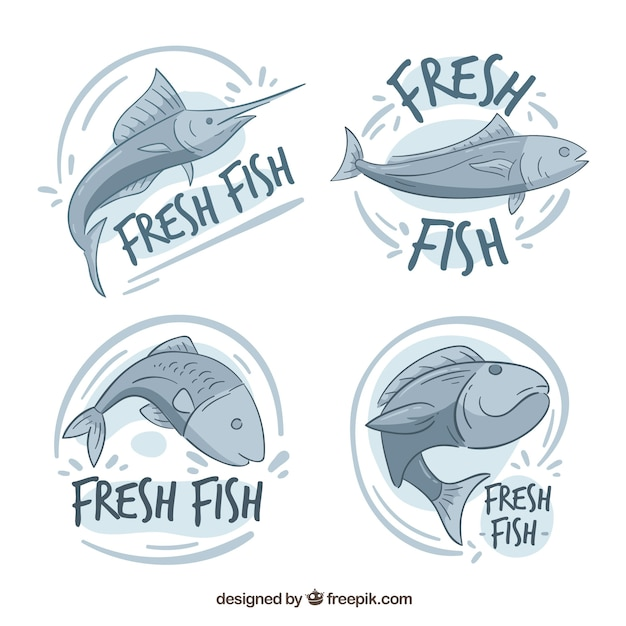 Fish logos collection for companies\ branding