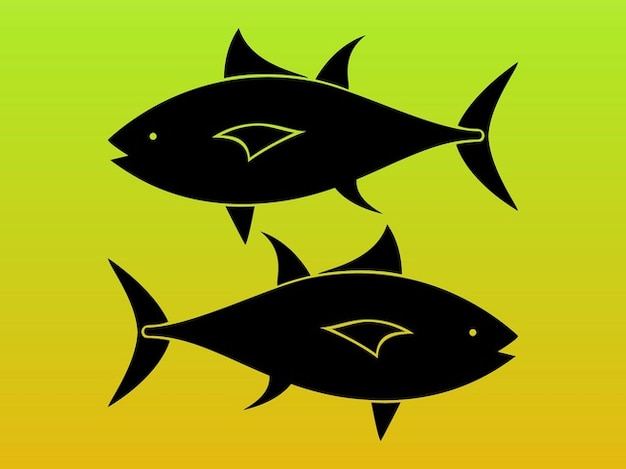 Fish silhouettes pisces vector Free Vector