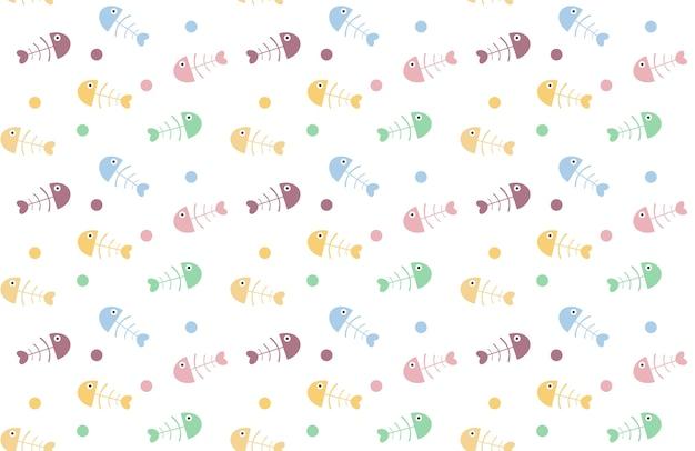 fishbone pattern background vector premium download