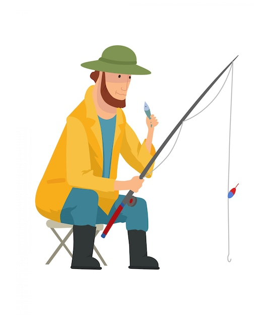 premium vector fisherman flat fishing people with fish and equipment vector set fishing equipment leisure and hobby catch fish illustration https www freepik com profile preagreement getstarted 5880366