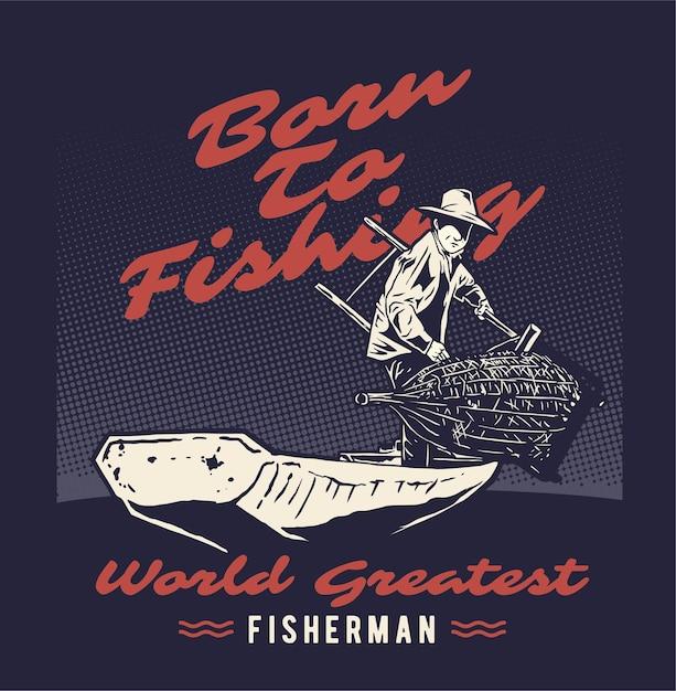 Fisherman Premium Vector