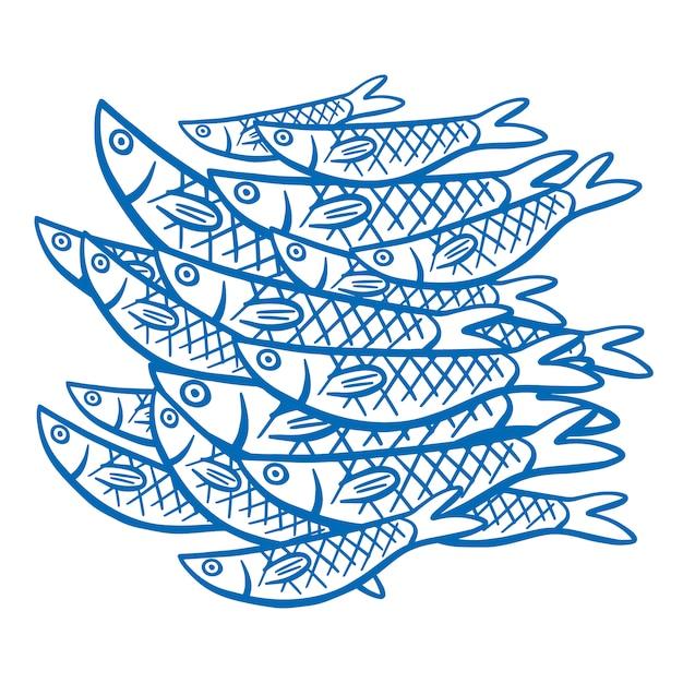 Pesci su sfondo bianco Vettore gratuito