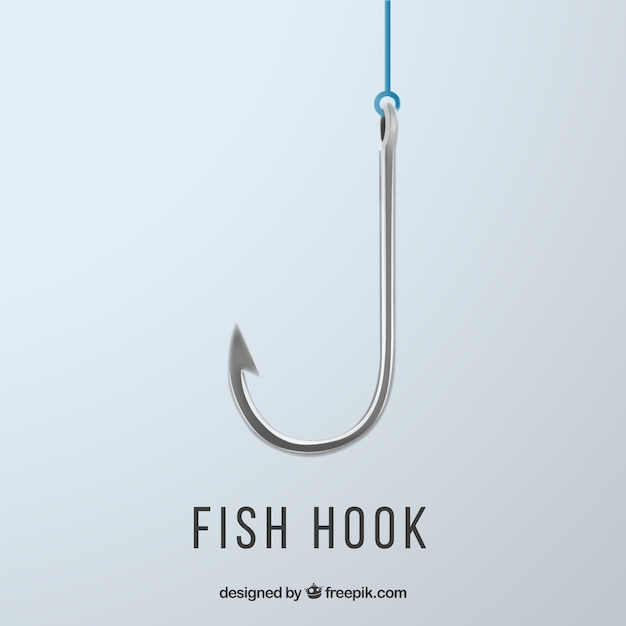 Fishing hook Free Vector
