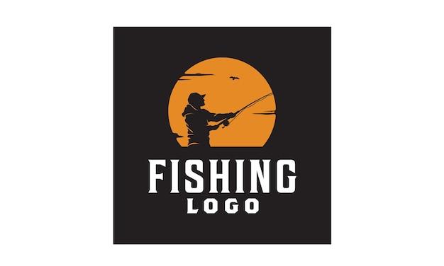 Fishing logo design inspiration Premium Vector
