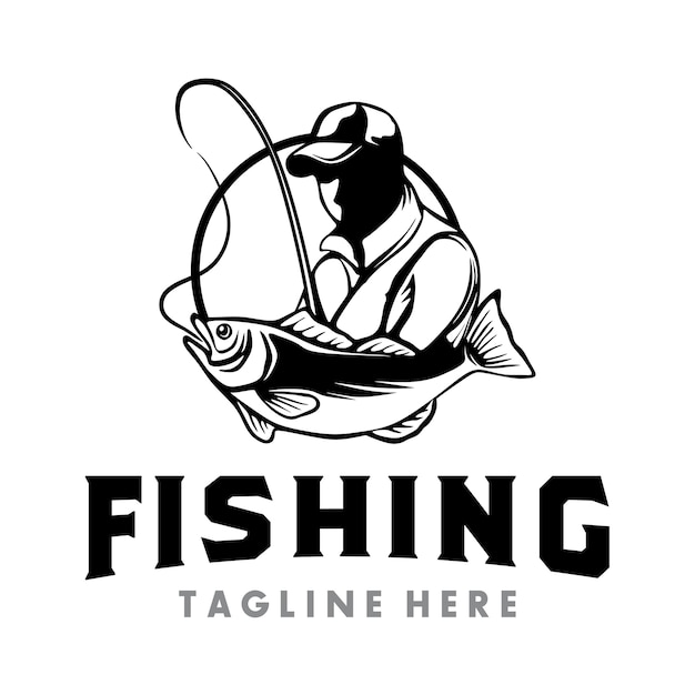 Fishing logo Premium Vector