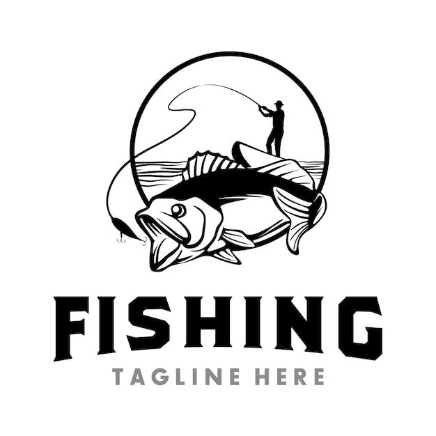 Fishing logo Premium Vector