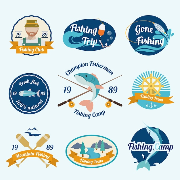 Fishing Trip Camps Clubs Outdoor Tours Label