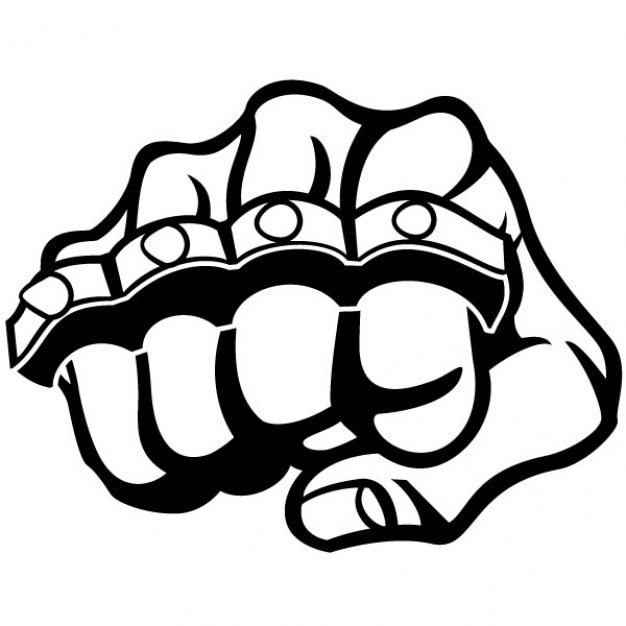 Fist and metal knuckle illustration Vector   Free Download
