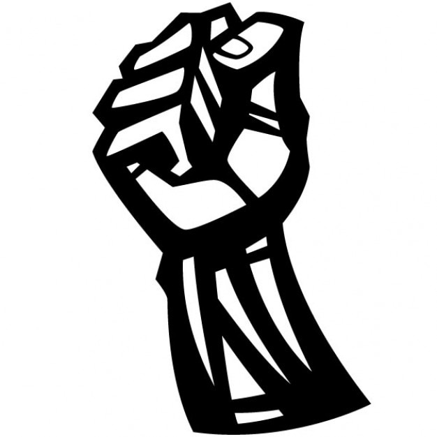 Fist Clenched Protest Symbol Illustration Vector Free Download