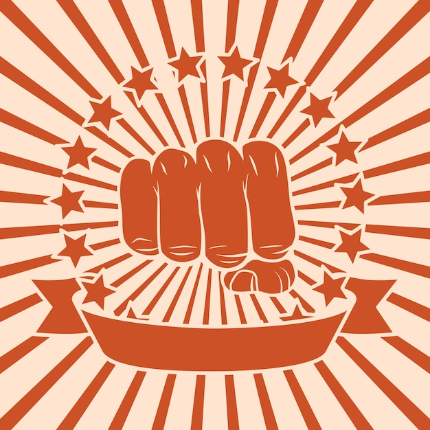 Fist comic design Free Vector