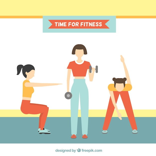 Free Vector Fit Women Doing Physical Exercises Background Download 1,767 fitness woman free vectors. fit women doing physical exercises