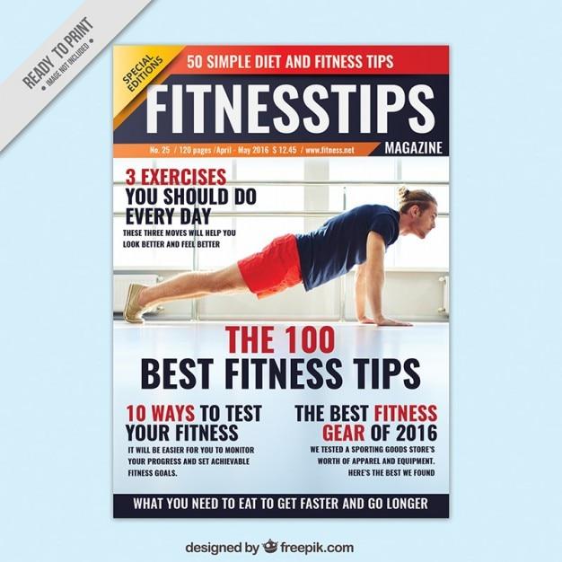 Fitness advice magazine Free Vector
