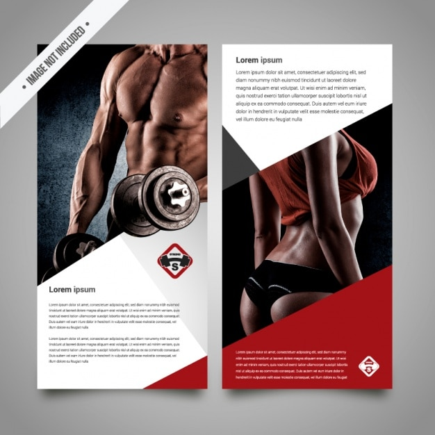 Fitness brochure template Vector – Gym Brochure Templates