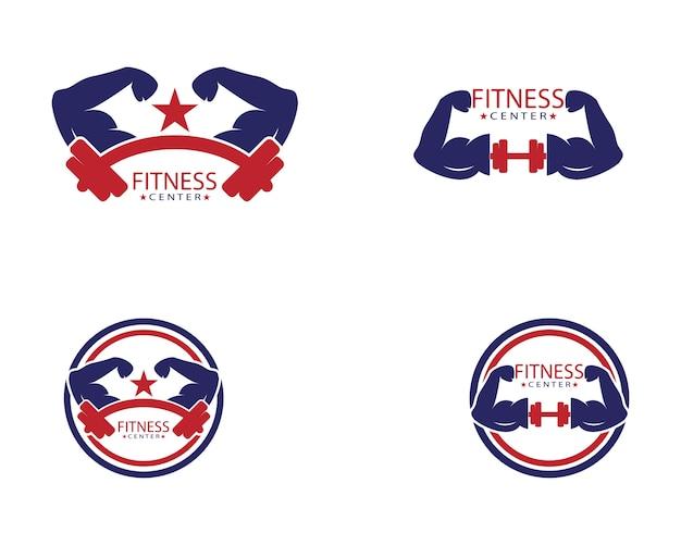 Fitness center logo template Premium Vector