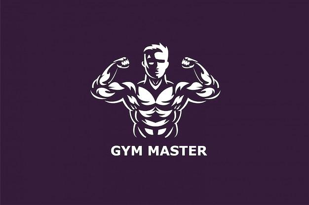 Fitness center and sport gym logos Premium Vector