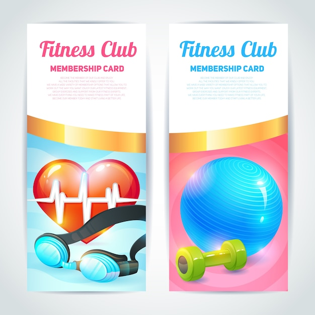 Fitness club card design Vector Premium Download