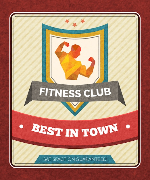 Fitness club poster Free Vector