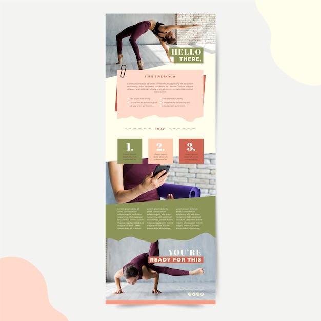 Modello di e-mail di comunicazione fitness Vettore gratuito