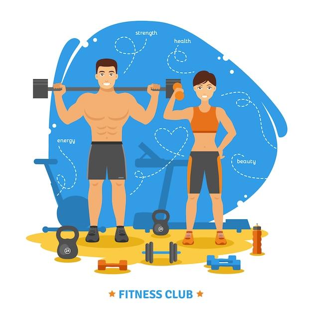 Концепция фитнеса Бесплатные векторы