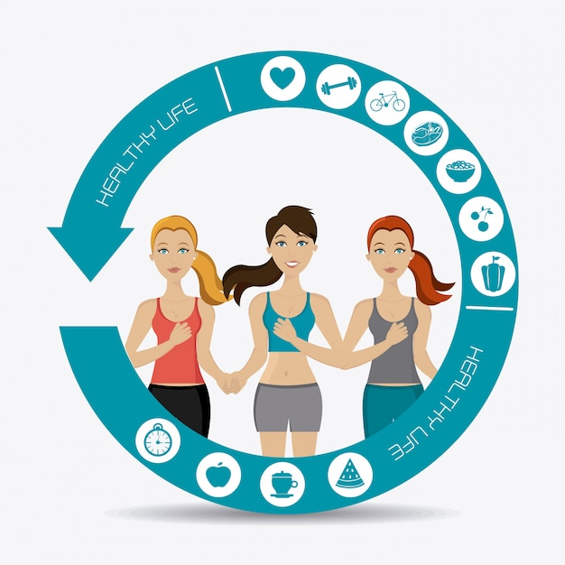 Fitness design. Premium Vector