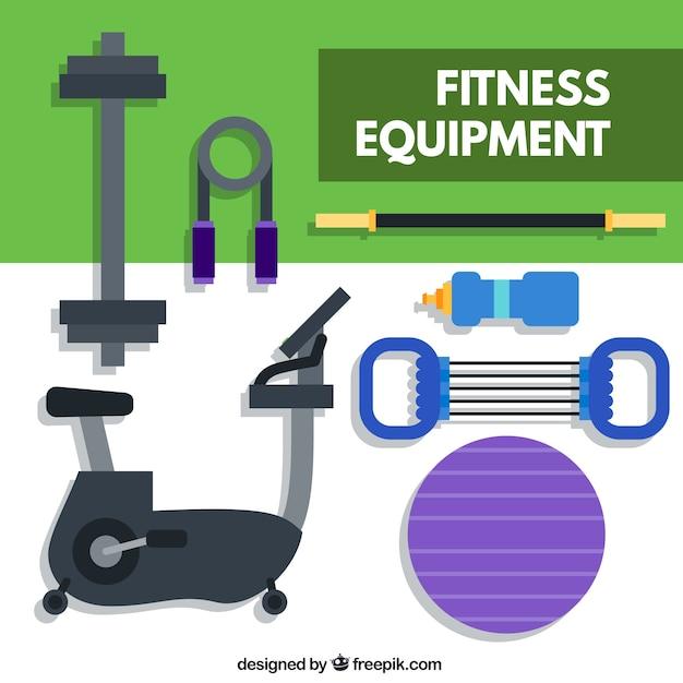 Fitness equipment y flat design