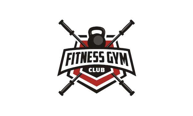 Fitness / gym badge emblem logo design Premium Vector
